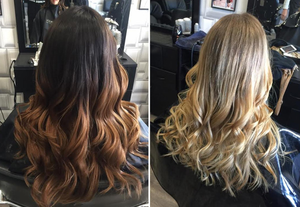 Balayage, Ombre or Dip-Dye Hair Package incl. Colour, Style Cut, Shampoo Service, Colour Lock Treatment, Head Massage & Blow Wave Finish with 25% Off Additional Beauty Treatments