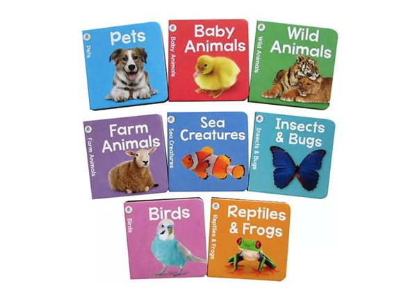 Animal Learning Library with Eight Hard Cover Books