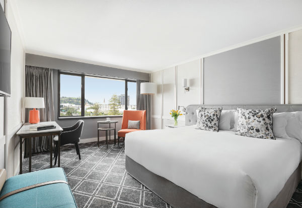 Five-Star Luxury Escape for Two incl. One Night in a Deluxe Room, Valet Parking, $75 Dining & Drinks Credit, Late Checkout & Unlimited In-Room Movies - GrabOne Exclusive