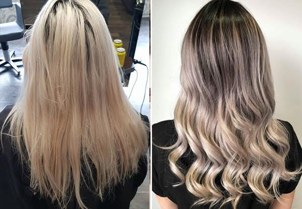 Balayage, Ombre, Dip-Dye or Root Melt Hair Package incl. Colour, Style Cut, Shampoo, OLAPLEX Treatment, Head Massage & Blow Wave Finish - 30 Locations Available
