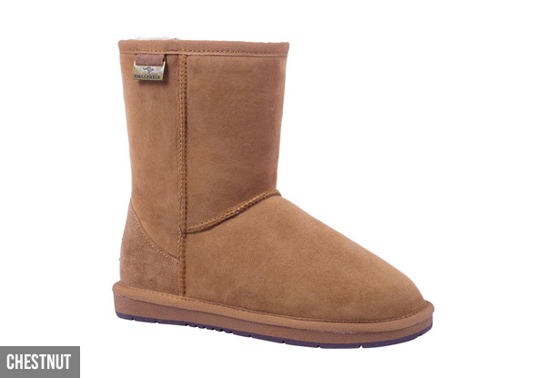 Auzland Unisex Classic ¾ Australian Sheepskin Water-Resistant UGG Boots - Six Colours & Ten Sizes Available