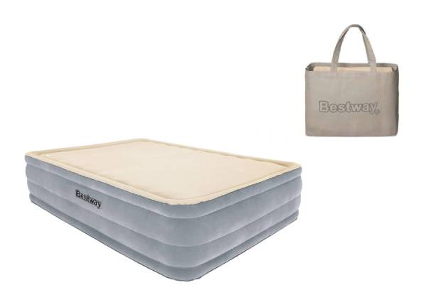 Queen Bestway Foamtop Raised Airbed