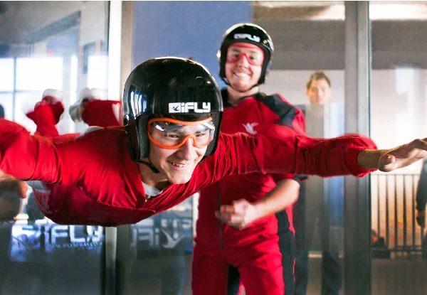First-Time Flyer Two or Four Flight Package for One Person at New Zealand's First & Only Indoor Skydiving Facility - Valid Seven Days a Week