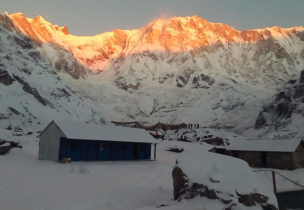 Per-Person, Twin-Share, Seven-Day Annapurna Base Camp Trek with Sunrise View of Himalayas incl. Accommodation, Local Transportation, English-speaking Guide, Meals & More.