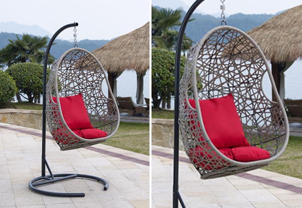 Huraki Wicker Hanging Chair Grabone Nz