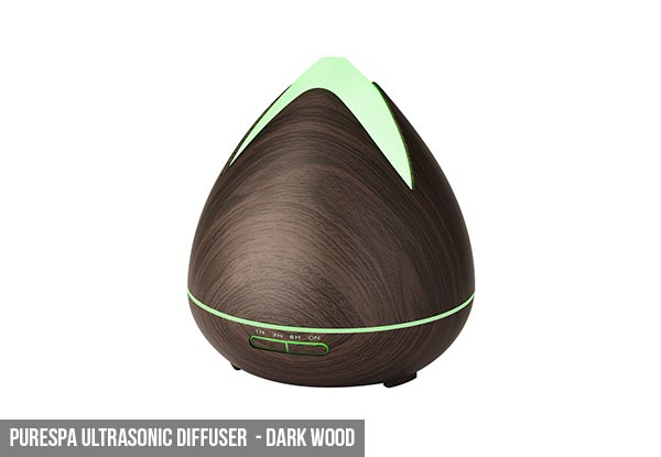 Ultrasonic Aroma Diffuser - Two Styles & Four Colours Available with Free Delivery