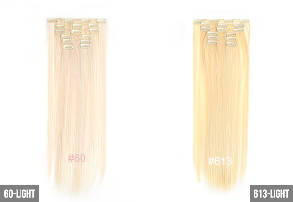 $29 for a Seven-Piece Hair Extension Set – Multiple Colours Available