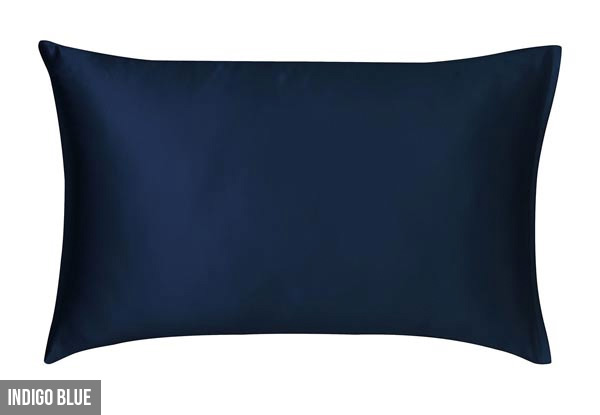 Canningvale Beautysilks Pillowcase Twin-Pack - Four Colours Available with Free Delivery