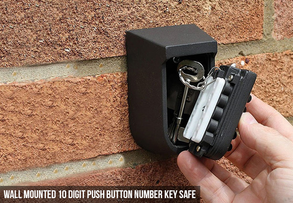 Wall Mounted Combination Lock or 10 Digit Push Button Key Safe