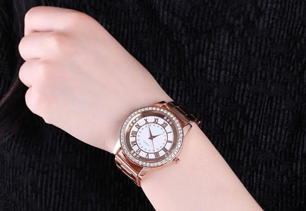 Rose Gold Fashion Watch & Ring Set with Free Delivery