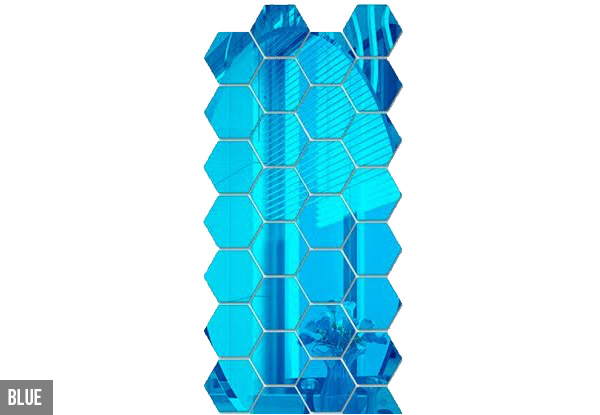 12 Metallic Hexagon Wall Stickers incl. Delivery