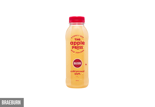 12-Pack of The Apple Press 350ml Juice Range - Nine Flavours Available & Option for 24-Pack