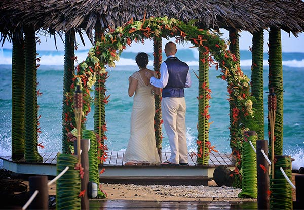 All-Inclusive Wedding Package at Saletoga Sands Resort, Samoa for 20 Guests incl. Three Nights in a Beachfront Villa for the Bride & Groom, Accommodation for Guest & Daily Continental Breakfast