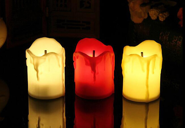 24-Pack LED Battery Powered Candle Set - Three Colours Available