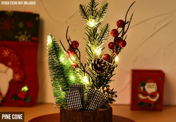 Mini Christmas Tree with Light - Three Options Available
