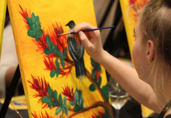 Social Painting Class for One Person incl. Beverage - Options for up to Five People