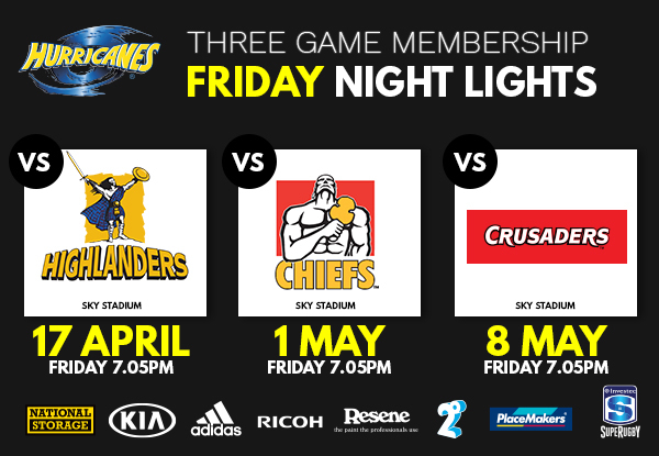 Three-Game Friday Night Lights Silver Hurricanes Membership for One Adult - Option to incl. Child