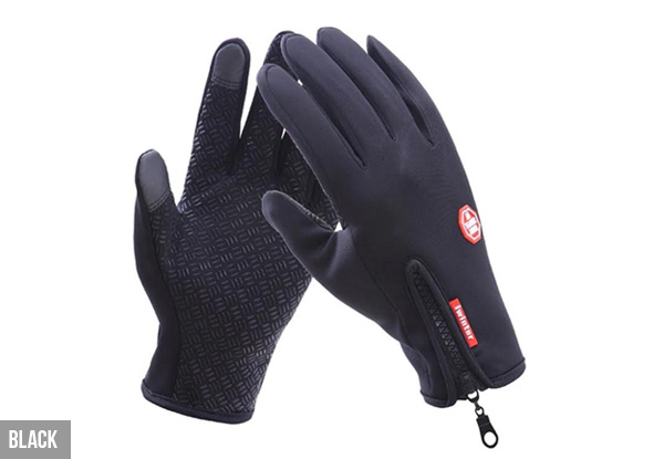 Water-Resistant Sports Touch Gloves - Three Colours & Sizes Available with Free Delivery