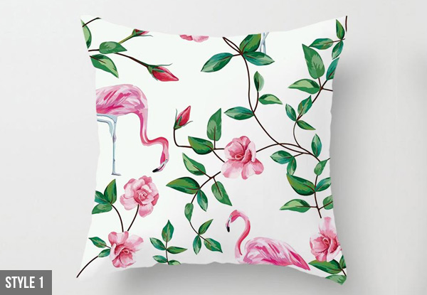Flamingo Print Cushion Cover - 11 Styles Available