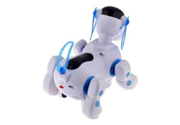 Electronic Robot Walking Patrol Dog - Two Colours Available
