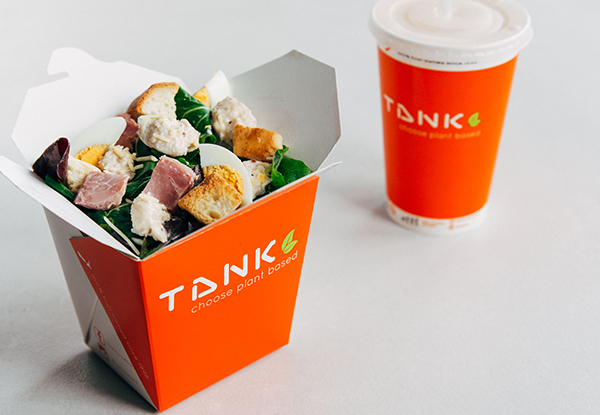 Full Tank Combo (Any Salad or Wrap) with a Full TANK Classic Smoothie or Juice (Nationwide & Online Redemption Only)