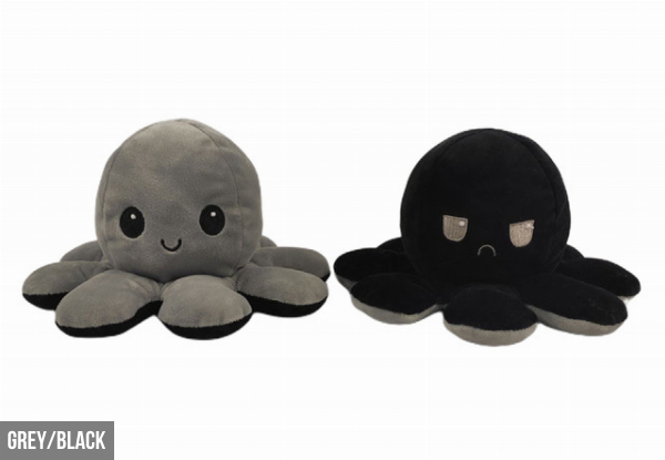 Reversible Flip Octopus Plush Stuffed Toy - Nine Colours Available