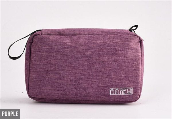Hanging Travel Toiletry Bag - Five Colours Available & Option for Two